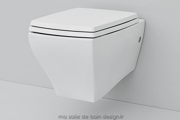 Cuvette WC suspendue céramique Jazz d'Artceram