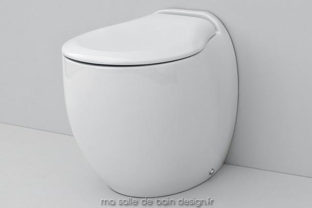 Toilettes à poser design Blend par Artceram en céramique blanche 36x52cm