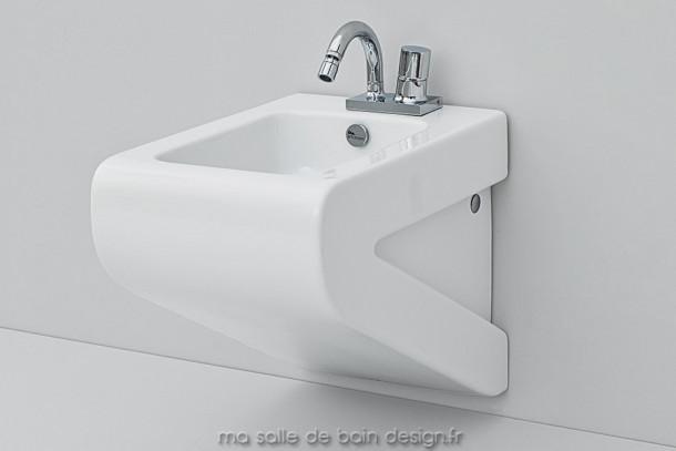Bidet suspendu design La Fontana 36x54cm - Artceram