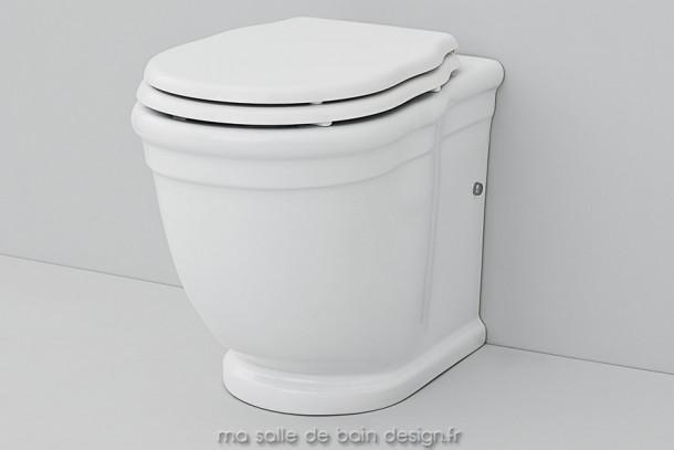 Toilettes à poser rétro Hermitage 36x55cm céramique blanche Artceram