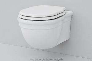 Toilettes suspendues rétro Hermitage