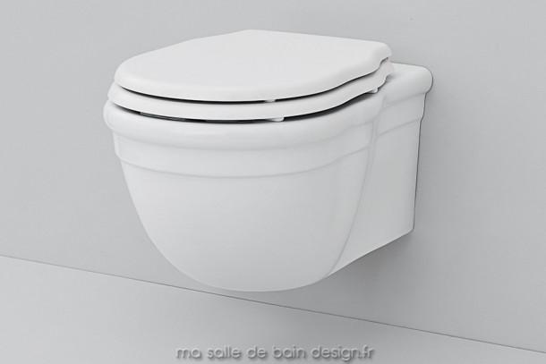 Toilettes suspendues rétro Hermitage Artceram 36x55cm