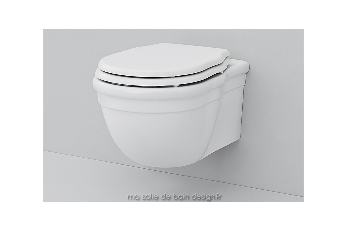 toilettes suspendues r tro hermitage d 39 artceram en c ramique blanche ou noire. Black Bedroom Furniture Sets. Home Design Ideas