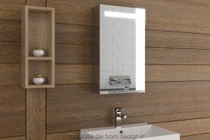 Armoire miroir simple porte lumineuse AM40