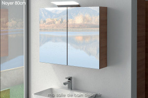 Armoire miroir double porte AM80