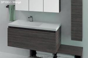 Meuble de salle de bain design suspendu ou à poser avec vasque ...