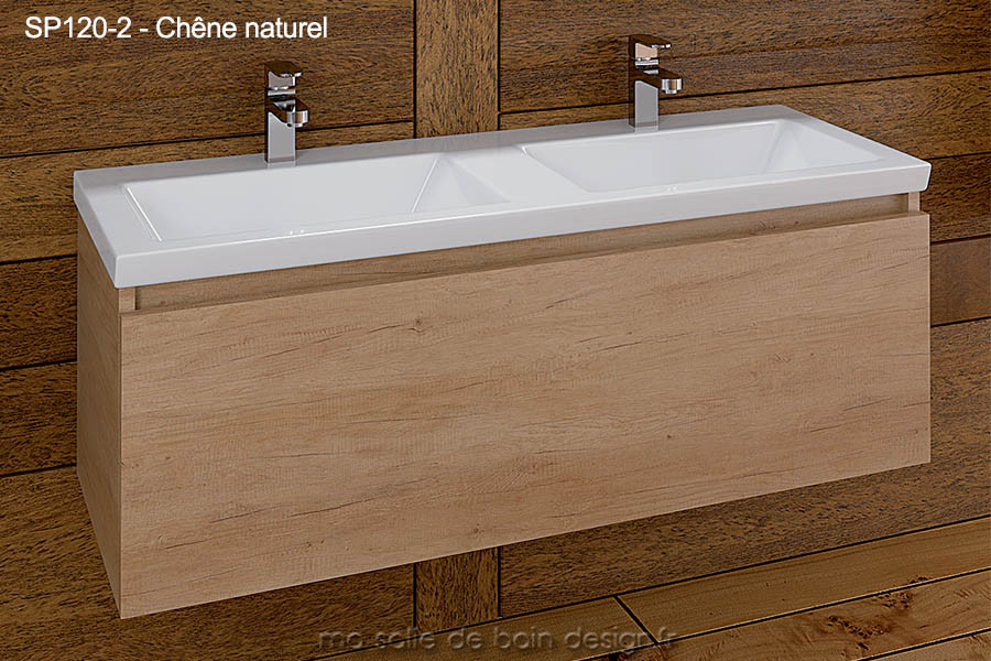 grand meuble salle de bain suspendu double lavabo encastr 120cm de long