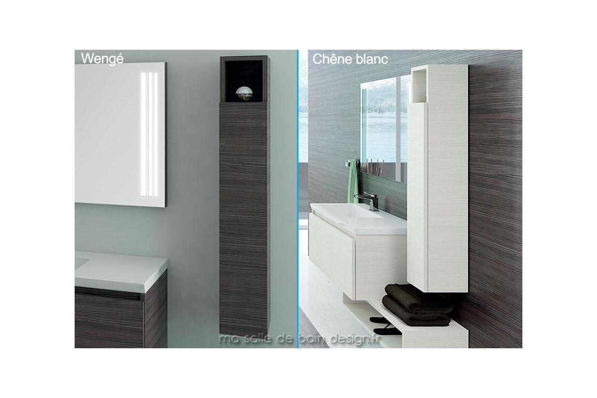 Fines colonnes de rangement salle de bain hauteur 130 cm - Rangement porte salle de bain ...