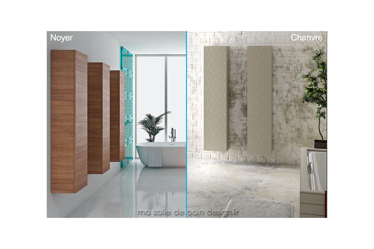 Colonne de rangement salle de bain en armoire haute de 160 for Colonne salle de bain hauteur 160