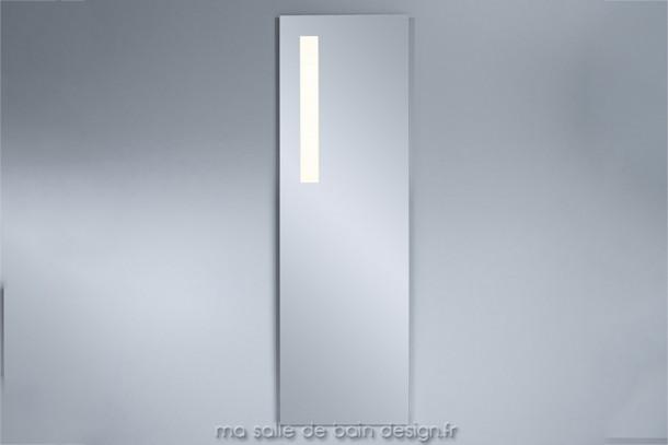 Miroir lumineux led vertical pour salle de bains haut de 150 cm environ - Grand miroir salle de bain lumineux ...