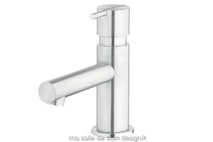 Mitigeur lavabo S22 en inox brossé