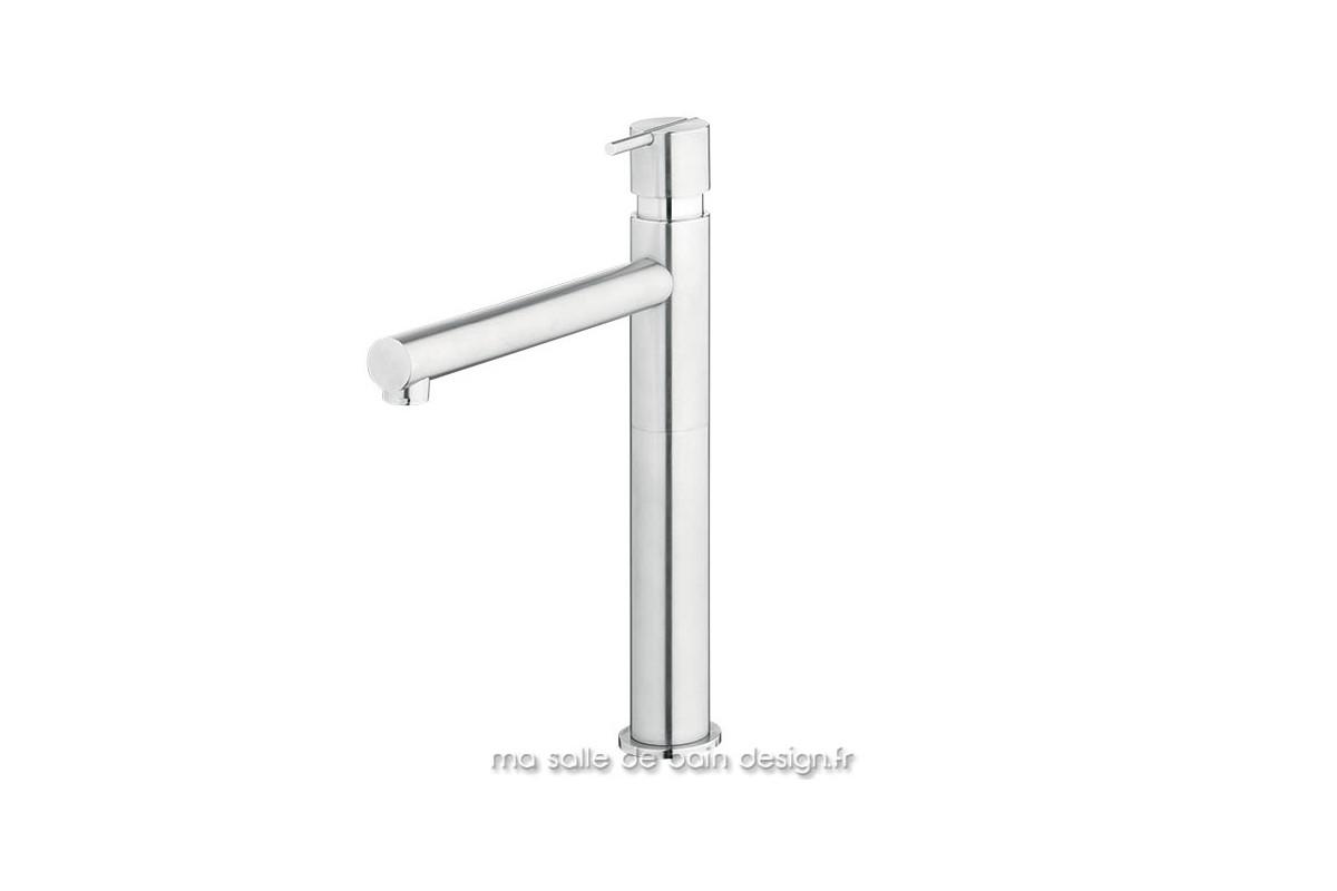 grand mitigeur de vasque design s22 en inox bross water evolution. Black Bedroom Furniture Sets. Home Design Ideas