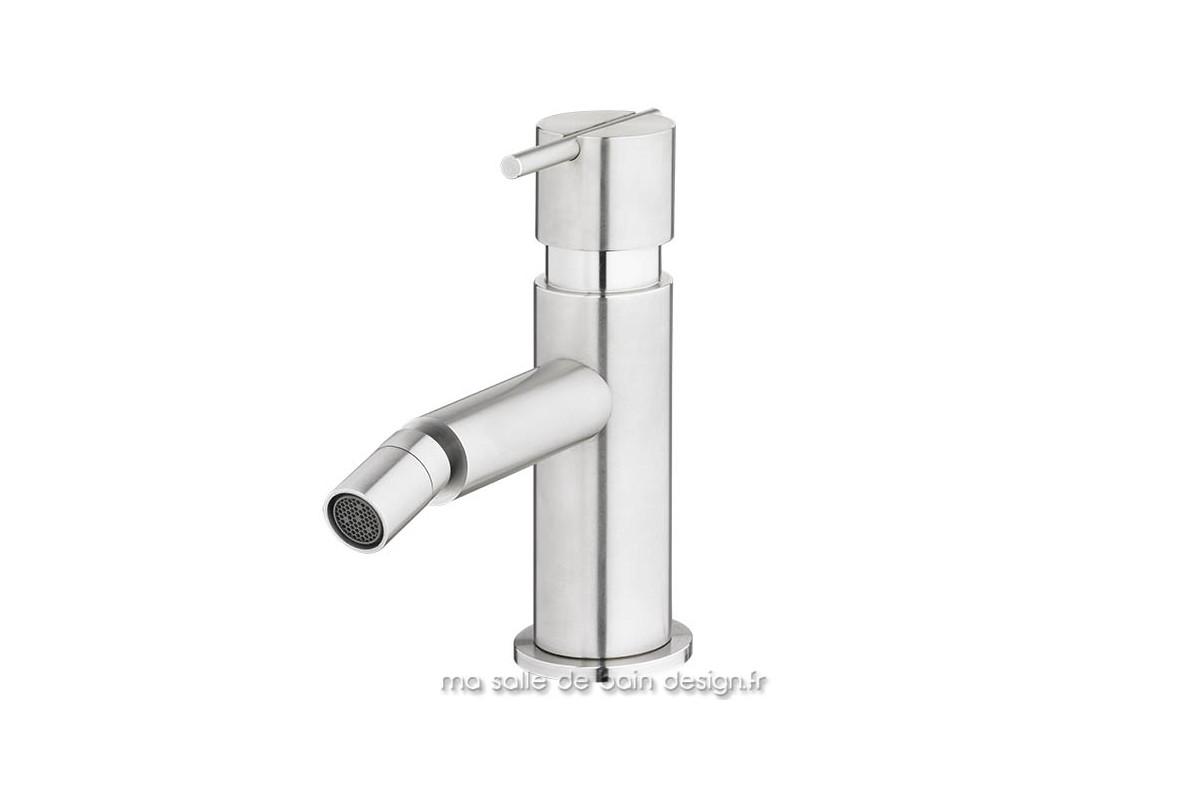 Mitigeur monotrou pour Bidet Design S22 inox brossé Water Evolution