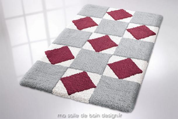 Tapis de bain - Fairfield - Carré ou Rectangulaire - 3 couleurs au choix