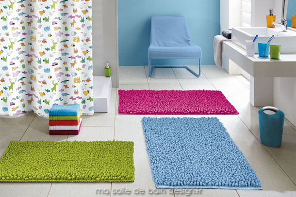 Tapis de bain - Hampton - Carré ou Rectangulaire, 8 couleurs au choix et 3 dimensions