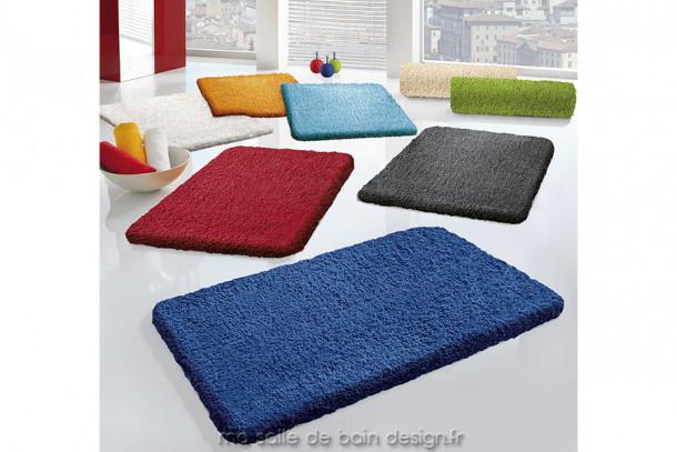 Tapis de bain - Trend - Rectangulaire, 9 couleurs au choix et 4 dimensions