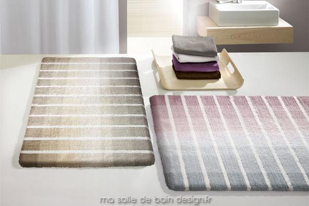 Tapis de bain design Rio - dégradé de couleurs pastels