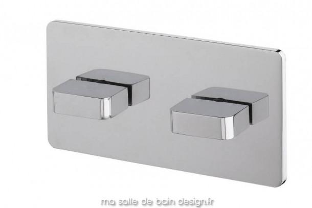 Plaque avec mitigeur encastré pour bain ou douche en acier chromé itap par Water Evolution