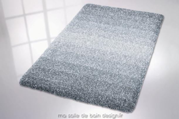 Tapis salle de bains design en dégradé de gris et blanc - Oslo