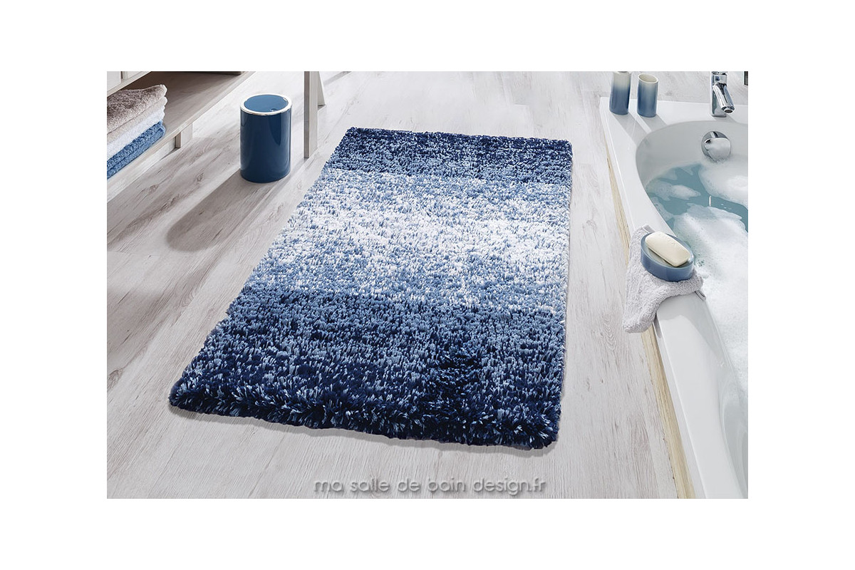 tapis de bains moderne en d grad de bleu oslo de kleine wolke. Black Bedroom Furniture Sets. Home Design Ideas
