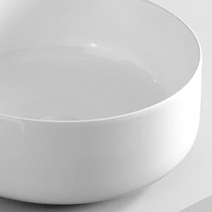 Vasque à poser céramique Cognac Blanche
