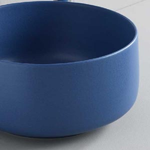 Vasque à poser céramique Cognac Bleu Spahir
