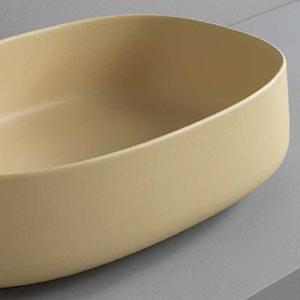 Vasque à poser céramique jaune zinc Cognac