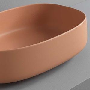 Vasque à poser céramique Cognac Orange Caméo