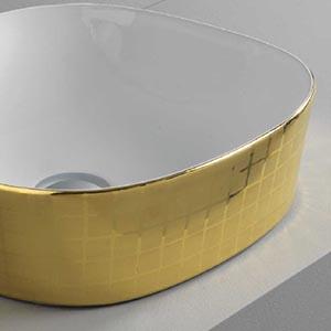 Vasque Design Ghost Mosaïque dorée