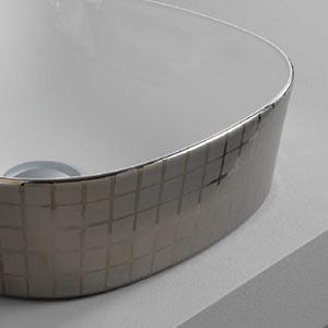 Vasque Design Ghost Mosaïque platine