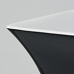Vasque Cow céramique noire et blanche