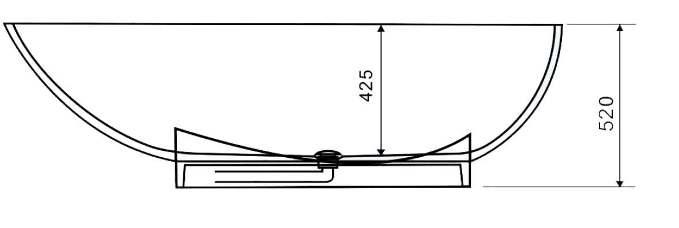 schéma dimensionnel pour la baignoire PBMW009