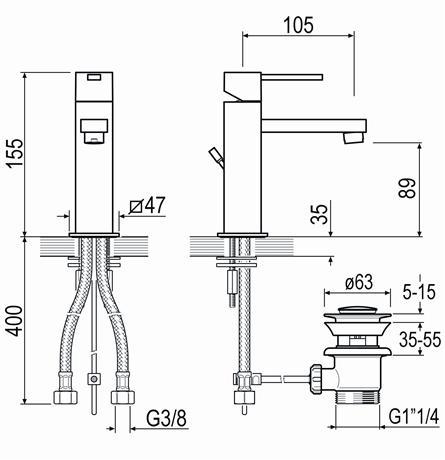 schema robinet cubix2