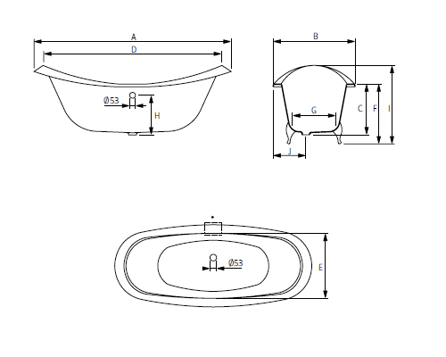 schéma baignoire fonte heidelberg adrya