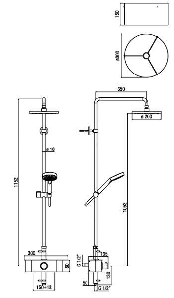 Schema colonne de douche t-box alpi