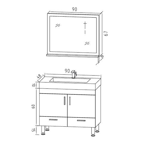 schéma ens meuble HORA 750
