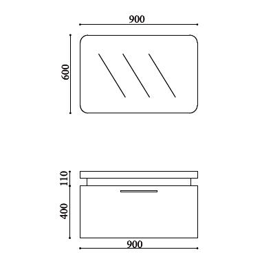 Schéma meuble Lugo 900