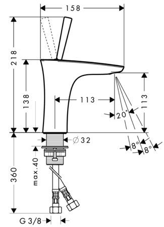 schema robinet puradiva 110 hansgrohe