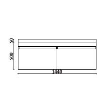 schema meuble TOKY 1400