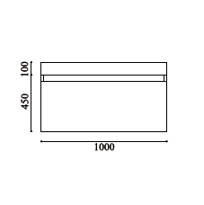 schéma meuble cubik 1000 blanc