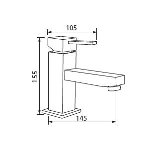 schema robinet PALERME pour plan vasque