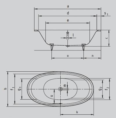 Baignoire ellipso schéma