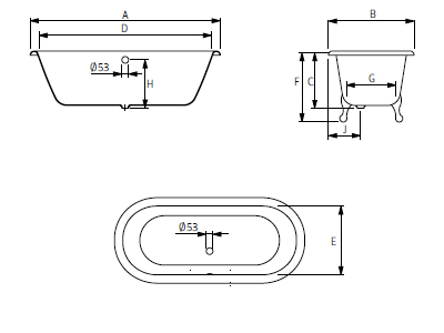 schema baignoire fonte roseinheim carlton