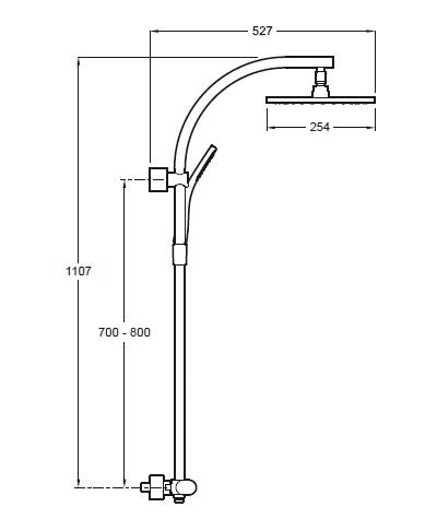 Pour ma famille hauteur mitigeur colonne douche for Installer colonne de douche