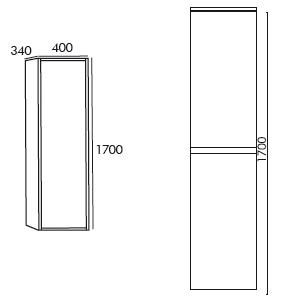 schéma colonne 1700 rondo blanc laqué