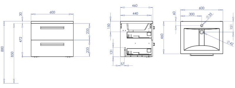 schema meuble suspendu orzo 60 cm compact