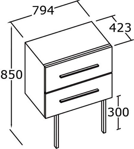 Meuble salle de bain pep 39 s 80 cm simple vasque for Meuble 80 cm largeur
