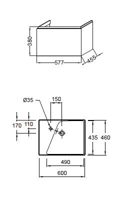 schema meuble jacob delafon formilia 60 cm