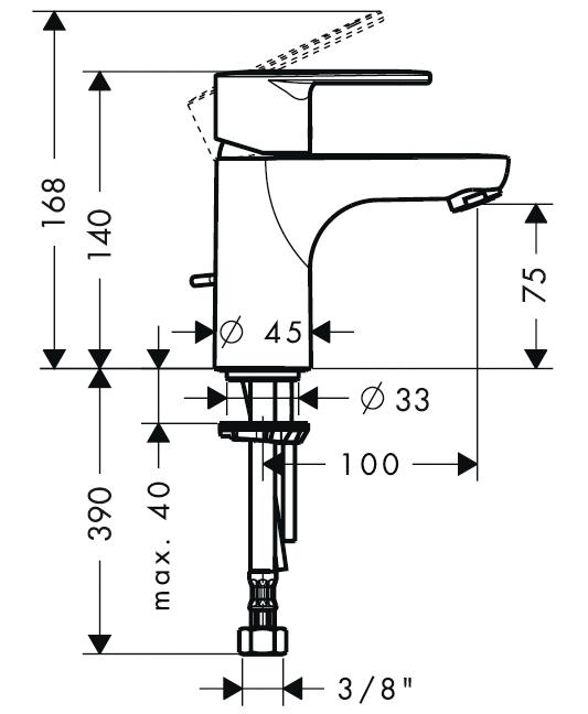 schema mitigeur talis E2 100