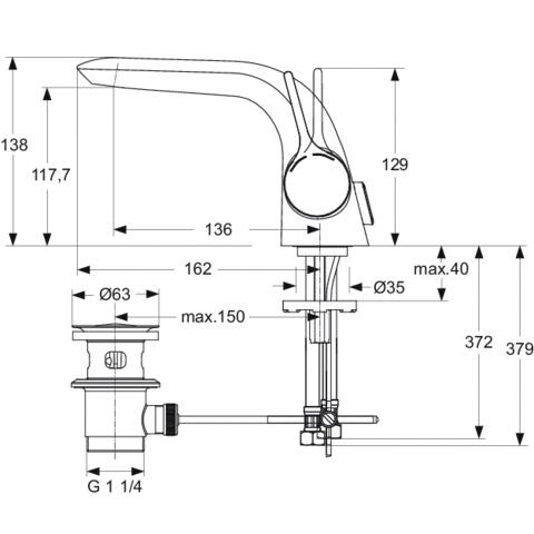 schema robinet melange ideal standard